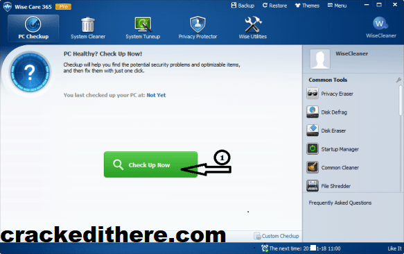 Wise Care 365 Pro 5.6.6 Build 567 With Crack + Key Full Download