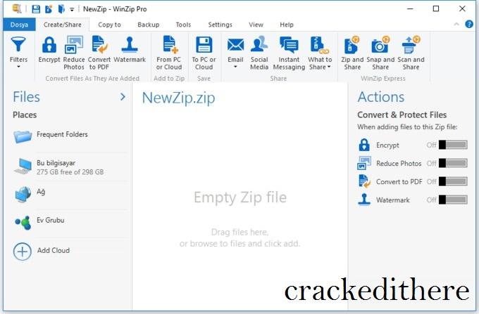 WinZip Pro 25 Crack + Free Activation Code With Keygen {2020}